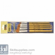 Craftpaint Brush Set 5 Flat