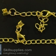 Lobster chain  2 EN14 ,4 pcs  gold
