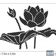 Nature Stencil Water Lily NA010