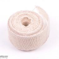 Jute ribbon 10 m White