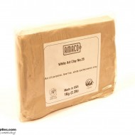 Pottery Clay Ceramic Low-fire White Art Clay No.25 (1kg)