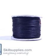 Cotton cord 0.5mm black ,10 mts