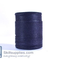 Cotton cord 1mm black,10 mts