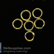 Jump rings 8mm  EN2 ,20 gms  gold