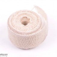 Jute ribbon 10 m White