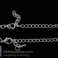 Lobster chain 3 EN15 ,4 pcs   silver