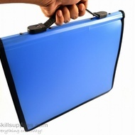 Pocket Portfolio ZipperA4 Blue