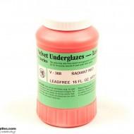 Pottery Underglaze V-388 Radiant Red