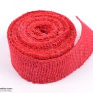 Jute ribbon 10 m Red