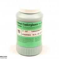 Pottery Underglaze V-327 Turquoise Blue