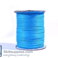 Cotton cord 1mm blue ,10mts