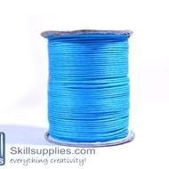 Cotton cord 1mm blue ,10mts