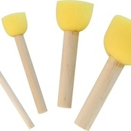 Foam Brush set of 4