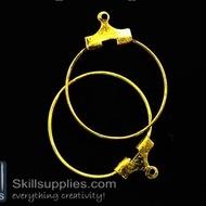 Hoops medium size  ER20 , 4 pcs   gold