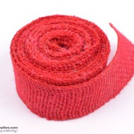Jute ribbon 10 m Red