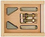Step clamps made of steel