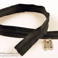 Zipper Black 2 ft Large