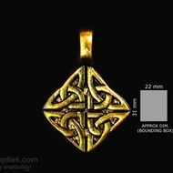 Antique gold finish Motif