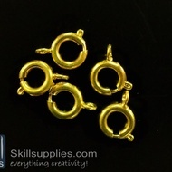 Clasp round 8mm FS6 ,20 pcs  gold