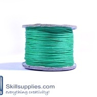 Cotton cord 0.5mm green,10 mts