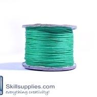 Cotton cord 0.5mm green,10 mts