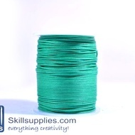 Cotton cord 1mm green,10 mts