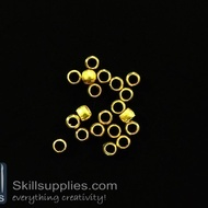 Crimp beads 4mm  EN7 ,100 pcs  gold