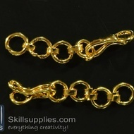 Hook chain 1 EN17 ,4 pcs   gold
