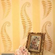 LeafMetal FlowerBlue goldmottled  6pc