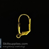 Lever back loop  ER10 ,10 pcs  gold