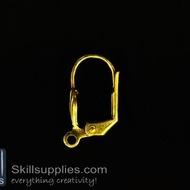 Lever back loop  ER10 ,10 pcs  gold