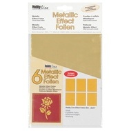 Metallic Effectfoil set 6pc gold