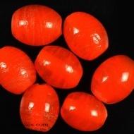 Oval glass beads albester 5