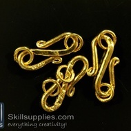 S hook 22 mm FS13 ,10 pcs  gold