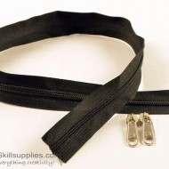 Zipper Black 2 ft Large