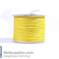Cotton cord 0.5mm yellow,10 mts