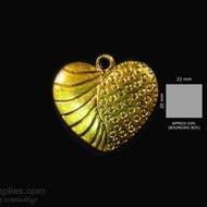 Antique gold finish Heart 2