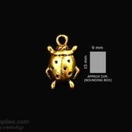 Antique gold finish Ladybug