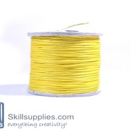 Cotton cord 0.5mm yellow,10 mts