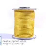 Cotton cord 1mm yellow,10 mts