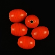 Oval glass beads opaque 2