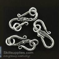 S hook 22 mm FS14 ,10 pcs  silver