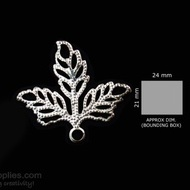 Silver Finish Leaf 5pc