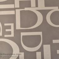 Vinyl Frost Pattern - alphabets