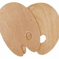 Wooden Palette 25X30cm,Oval5mm