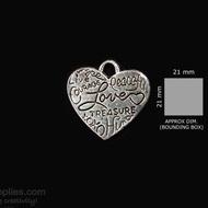 Antique finish Heart 2
