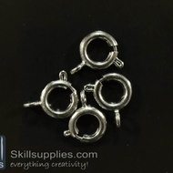Clasp round 8mm FS7 ,20 pcs  chrome