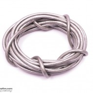 LeatherCord Silver 2.5mm