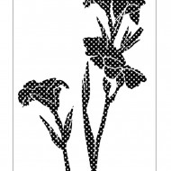 Nature Stencil Canna Lily NA005
