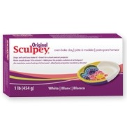 PolymerClay Sculpey Original White 1lb